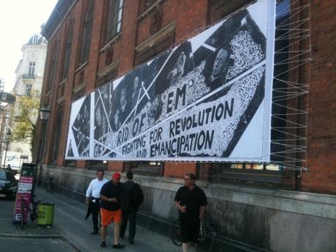 Werbeplakat für die Ausstellung mit Thomas Kilpper in Kopenhagen (Foto: Bomsdorf).